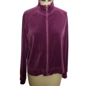 GAP Grape Velour Track Jacket Stretch L
